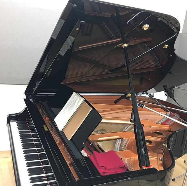 本日は #ピアノ #レコーディング ですたー。 #音楽好きな人と繋がりたい #プロデュース #倉川 #知也 #daw #studioone #ヤマハ #yamaha
