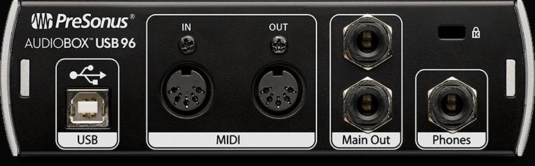 AudioBox USB 96| Rear画像