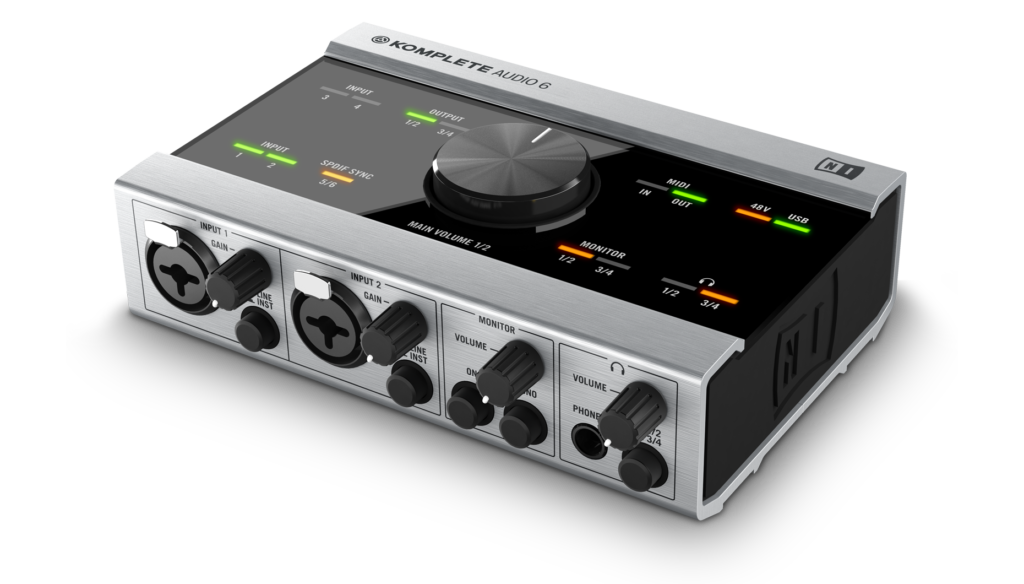 Native Instruments|KOMPLETE AUDIO 6 前面写真