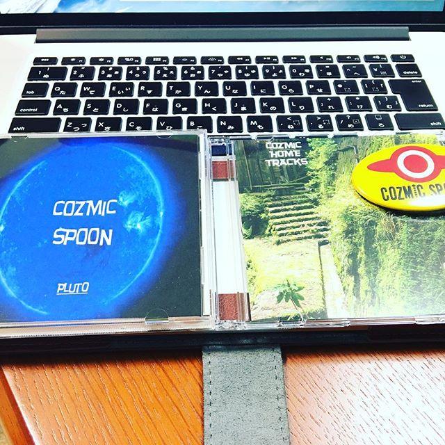 #知也塾 #youtube でもアゲますが、CD、戴いちゃいましたー!絶賛パワープレイ中ですw#CozmicSpoon #cd #戴きもの #バンド #献CD?