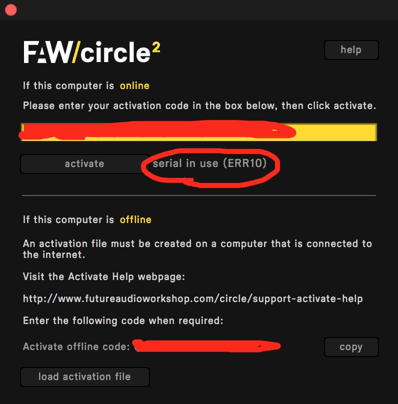Circle2|認証エラー 画像
