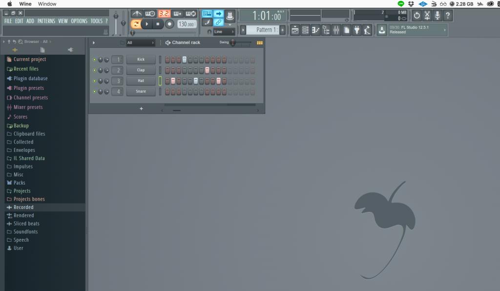 FL Studio for Mac β版|2017年9月28日リリース版・画像
