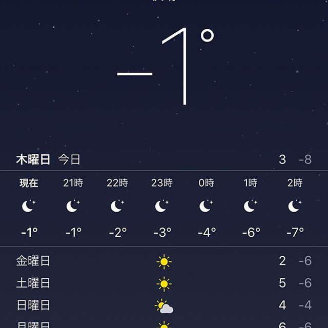おいおい。。。この時間で氷点下かよ。。。どうした、#関東 。。。 #大寒波 #寒い #寒波 #さむい #関東さんお風邪を召されましたか?