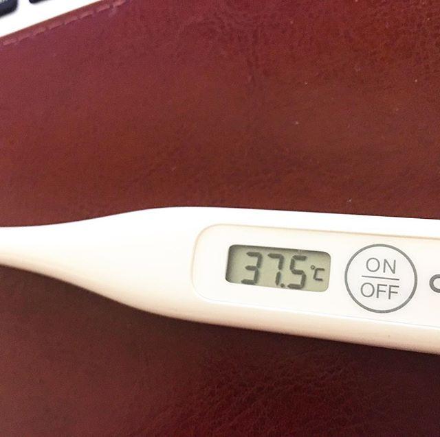 #風邪 ?それとも #インフルエンザ ?絶賛、一進一退ちう。。。 着実に #熱 は下がって来てるんだけどなぁ。。。