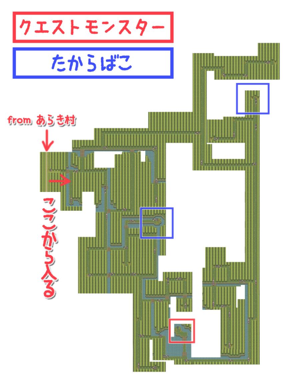 言な絶えそね|長野の森攻略 その1(クエストモンスターマップ)|アイキャッチ用