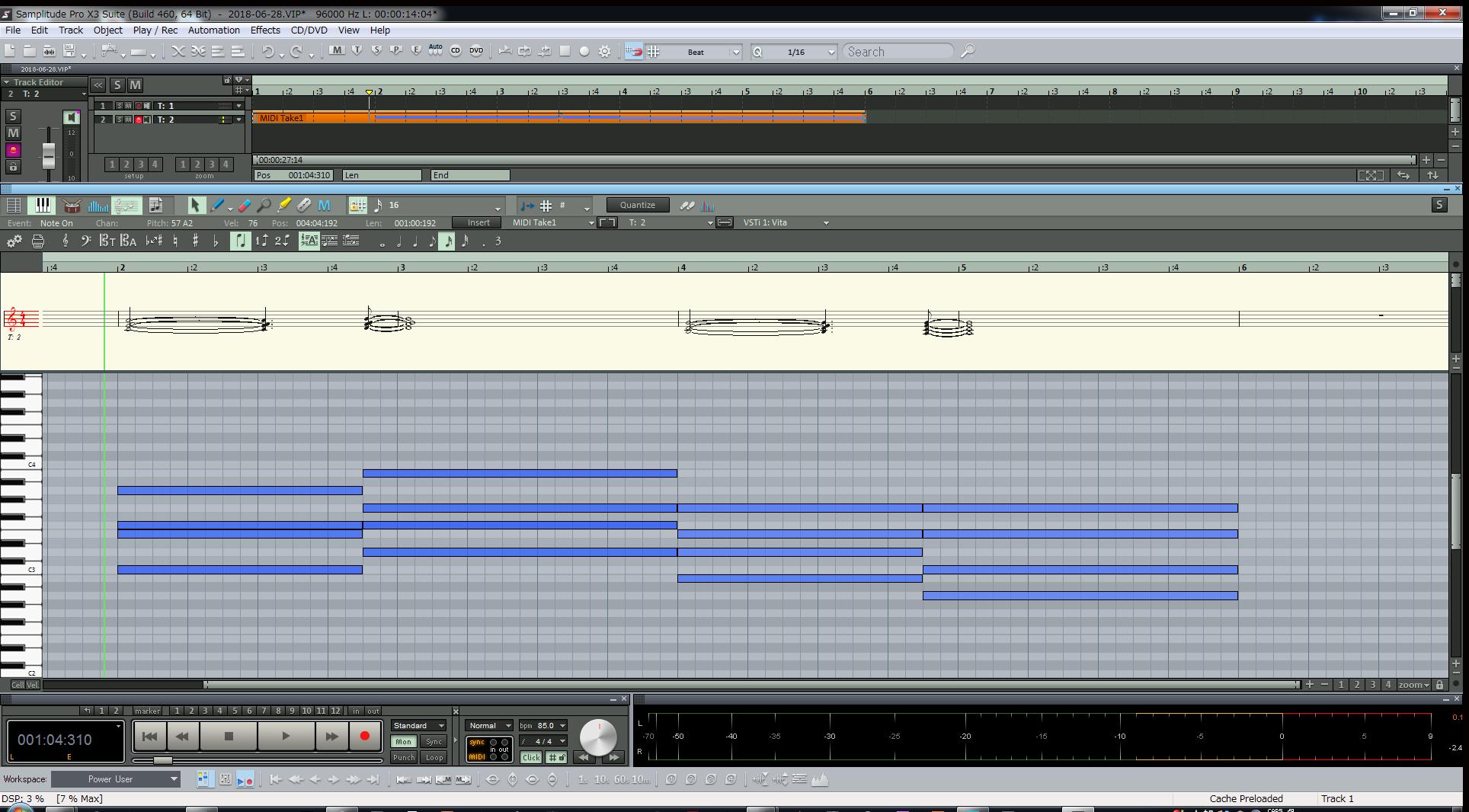 SamplitudeProX3|ピアノロール画面