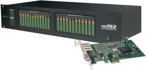 MOTU HD192&PCIe-424