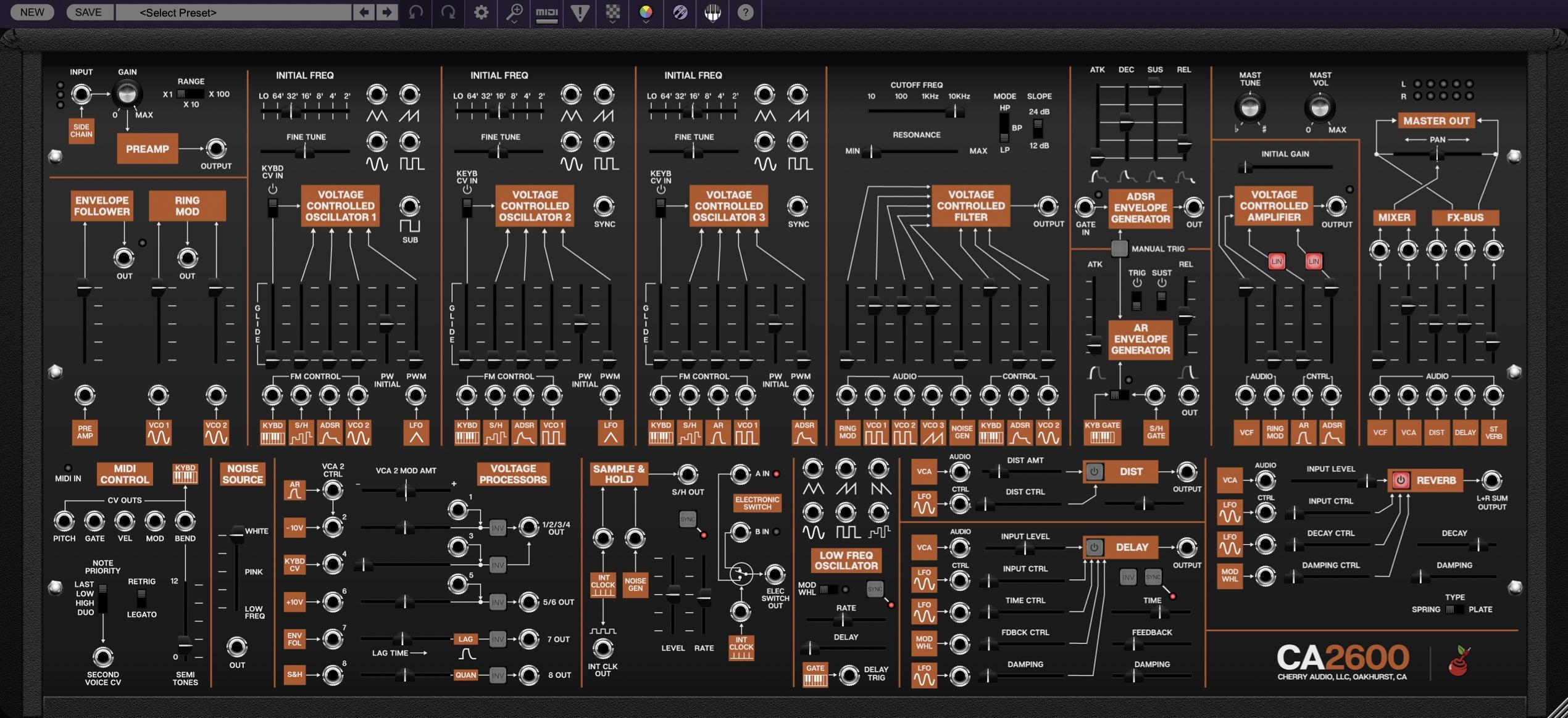CherryAudio - CA2600 Logic立ち上げ画像